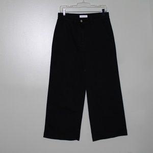 everlane women black wide leg pant SZ 10